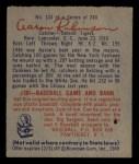 1949 Bowman #133  Aaron Robinson  Back Thumbnail