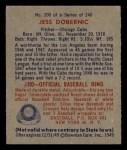 1949 Bowman #200  Jess Dobernic  Back Thumbnail