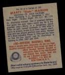 1949 Bowman #54  Marty Marion  Back Thumbnail