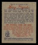 1949 Bowman #127 SCR Hank Majeski  Back Thumbnail