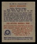 1949 Bowman #206  Bruce Edwards  Back Thumbnail
