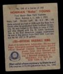 1949 Bowman #240  Babe Young  Back Thumbnail