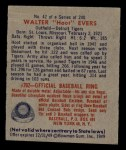 1949 Bowman #42  Hoot Evers  Back Thumbnail