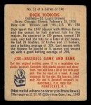 1949 Bowman #31  Dick Kokos  Back Thumbnail