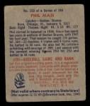 1949 Bowman #153  Phil Masi  Back Thumbnail