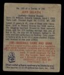 1949 Bowman #169  Jeff Heath  Back Thumbnail