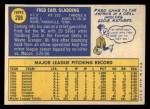 1970 Topps #208  Fred Gladding  Back Thumbnail