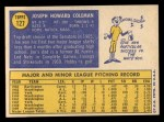 1970 Topps #127  Joe Coleman  Back Thumbnail