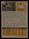 1971 Topps #195  Bob Berry  Back Thumbnail