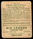 1933 Goudey #38  Fred Brickell  Back Thumbnail