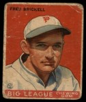 1933 Goudey #38  Fred Brickell  Front Thumbnail