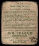 1933 Goudey #124  Earl Whitehill  Back Thumbnail