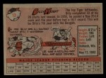 1958 Topps #13 YN Billy Hoeft  Back Thumbnail