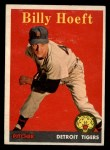 1958 Topps #13 YN Billy Hoeft  Front Thumbnail