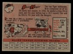 1958 Topps #13 *YNR Billy Hoeft  Back Thumbnail