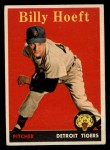 1958 Topps #13 *YNR Billy Hoeft  Front Thumbnail