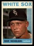 1964 Topps #31  Dave Nicholson  Front Thumbnail