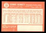 1964 Topps #396  Dennis Bennett  Back Thumbnail