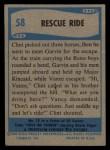 1956 Topps / Bubbles Inc Elvis Presley #58   Rescue Ride Back Thumbnail