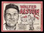 1969 Topps #24 *ERR* Walter Alston    Back Thumbnail