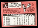 1969 Topps #451 WN Rich Rollins  Back Thumbnail