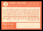 1964 Topps #23  Chris Zachary  Back Thumbnail