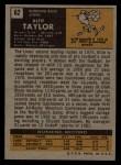 1971 Topps #62  Altie Taylor  Back Thumbnail