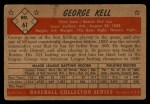 1953 Bowman #61  George Kell  Back Thumbnail