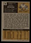 1971 Topps #95  Hewritt Dixon  Back Thumbnail