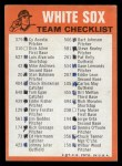 1973 Topps Blue Team Checklists #6   Chicago White Sox Back Thumbnail