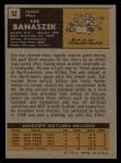 1971 Topps #52  Cas Banaszek  Back Thumbnail