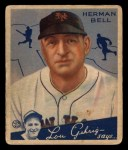 1934 Goudey #52  Herman Bell  Front Thumbnail