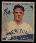 1934 Goudey #94  Red Rolfe  Front Thumbnail