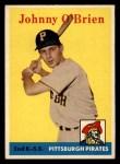 1958 Topps #426  Johnny O'Brien  Front Thumbnail