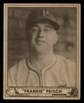 1940 Play Ball #167  Frankie Frisch   Front Thumbnail