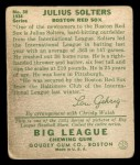 1934 Goudey #30  Julius Solters  Back Thumbnail