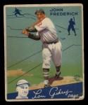 1934 Goudey #47  John Frederick  Front Thumbnail