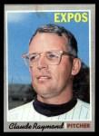 1970 Topps #268  Claude Raymond  Front Thumbnail