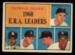 1961 Topps #45   -  Ernie Broglio / Don Drysdale / Bob Friend / Mike McCormick / Stan Williams NL ERA Leaders Front Thumbnail