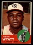 1963 Topps #376 BRK John Wyatt  Front Thumbnail
