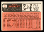 1966 Topps #29  Mike Brumley  Back Thumbnail