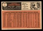 1966 Topps #73 ^COR^ Jerry Zimmerman   Back Thumbnail