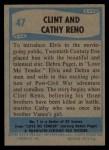 1956 Topps / Bubbles Inc Elvis Presley #47   Clint and Cathy Reno Back Thumbnail