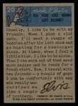 1956 Topps / Bubbles Inc Elvis Presley #20   Tux for TV Back Thumbnail