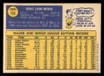 1970 Topps #155  Denis Menke  Back Thumbnail
