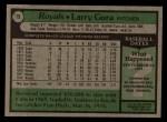 1979 Topps #19  Larry Gura  Back Thumbnail