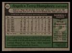 1979 Topps #503  Terry Humphrey  Back Thumbnail