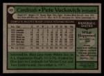 1979 Topps #407  Pete Vuckovich  Back Thumbnail