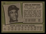 1971 Topps #120  Willie Horton  Back Thumbnail