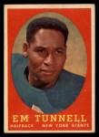1958 Topps #42  Emlen Tunnell  Front Thumbnail
